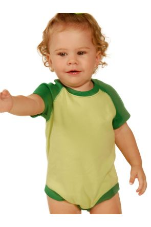 Infants Raglan Short Sleeve Bodysuit