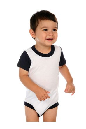 Infants Crew Neck Color Block Onesie'