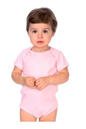Infants Interlock Lap Shoulder Short Sleeve Bodysuit