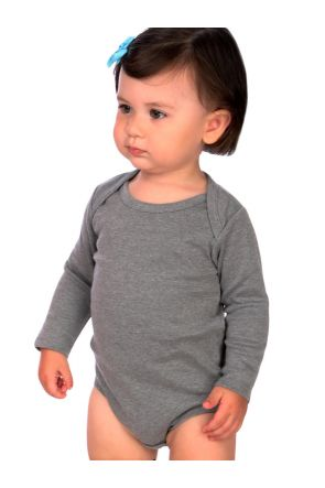 Infants Interlock Lap Shoulder Long Sleeve Bodysuit