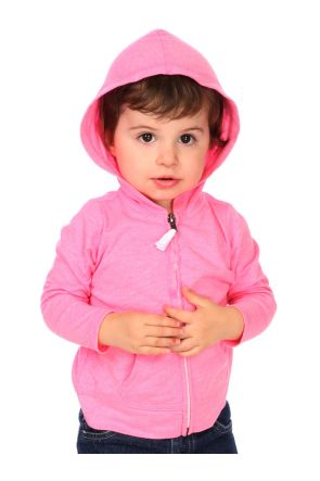 Infants Jersey Long Sleeve Zip Up Hoodie