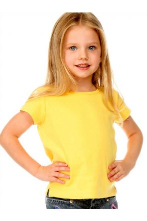 Girls 3-6X Baby Doll Short Sleeve Top