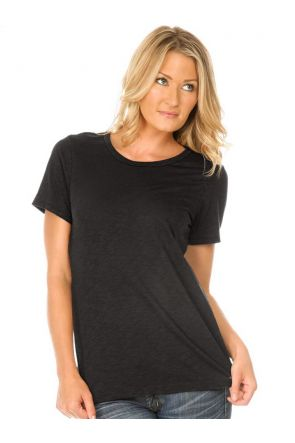 Women Slub Jersey Crew Neck Short Sleeve