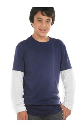 Youth Two-fer Long Sleeve Top.(Replaces 304)