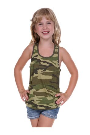 Girls 3-6X Camouflage Racer Back Tank