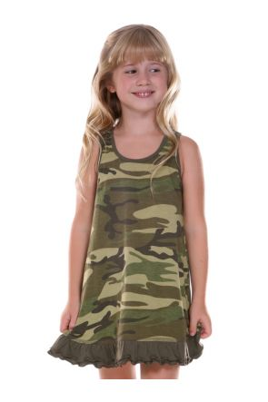 Girls 3-6X Camouflage A-Line Tank Dress