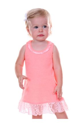 Infants Lace Trim A-Line Tank Dress
