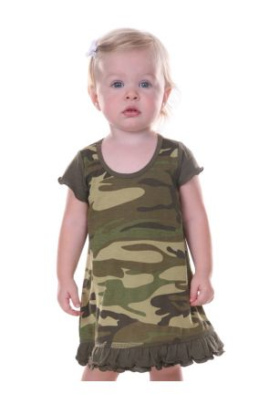 Infants Camouflage A-Line Short Sleeve Dress