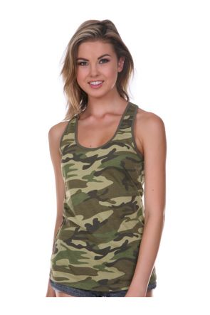Junior 2XL Camouflage Racer Back Tank