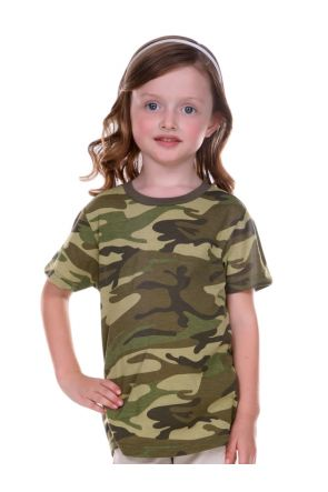 Toddlers Camouflage Crew Neck Short Sleeve Tee