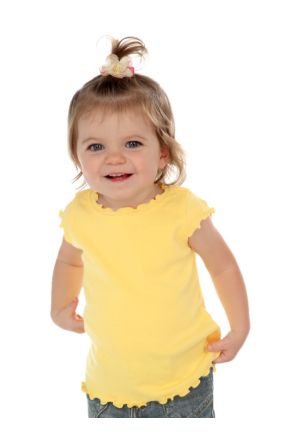 Infants Lettuce Edge Scoop Neck Cap Sleeve Top