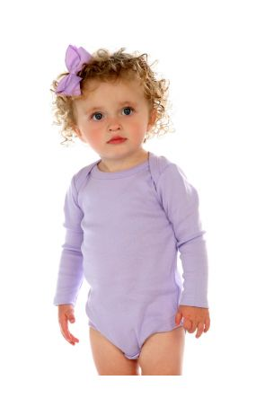 Infants Lap Shoulder Long Sleeve Onesie