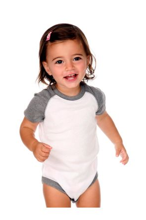 Infants Raglan Short Sleeve Bodysuit.(Replaces 190)