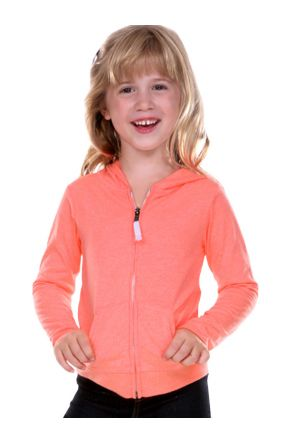 Girls 3-6X Jersey Long Sleeve Zip Up Hoodie