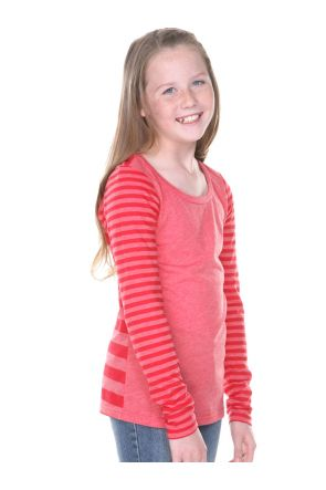 Girls 7-16 Striped Jersey Multi Contrast Long Sleeve