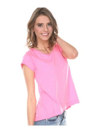 Juniors Sheer Jersey Raw Edge High Low Raglan Short Sleeve