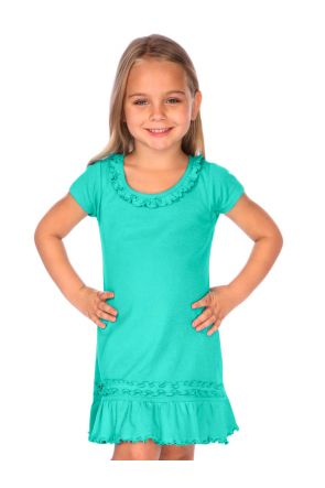 Girls 3-6X Sunflower Short Sleeve Dress