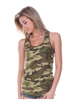 Junior Camouflage Racer Back Tank