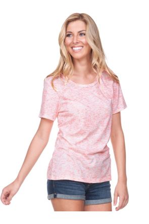 Women Static Jersey Print Crew Neck Short Sleeve
