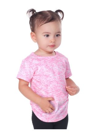 Infants Static Jersey Print Crew Neck Short Sleeve
