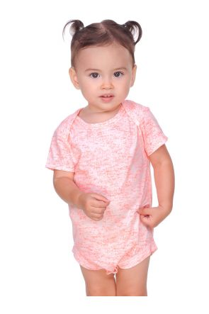 Infants Static Jersey Print Lap Shoulder Short Sleeve Onesie