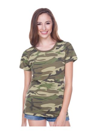 Junior Camouflage Crew Neck Short Sleeve Tee