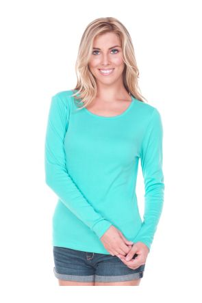 Women 2XL Crew Neck Long Sleeve Top