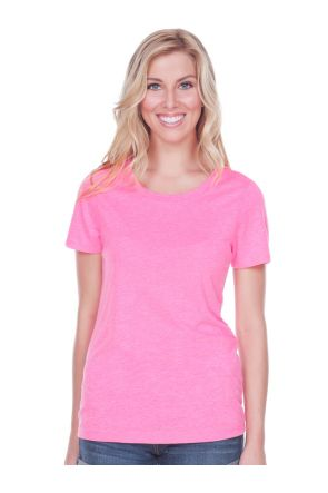 Women Sheer Jersey Crew Neck Short Sleeve
