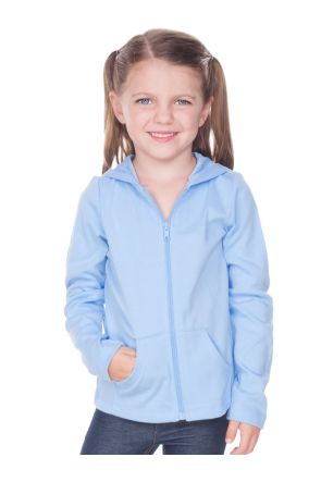 Little Girls 3-6X Long Sleeve Zip Hoodie