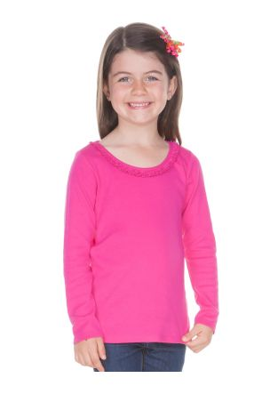 Little Girls 3-6X Sunflower Long Sleeve Top