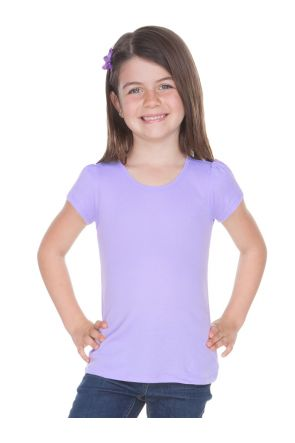 Little Girls 3-6X Scoop Neck Puff Sleeve