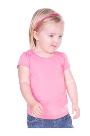 Infants Scoop Neck Puff Sleeve