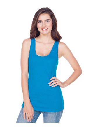 Juniors Sheer Jersey Scoop Neck Tank