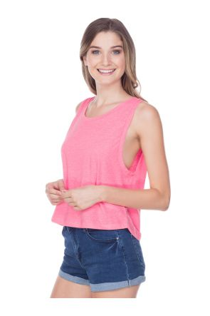 Juniors Jersey Scoop Neck Boxy Crop Tank