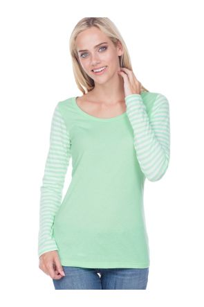 Juniors Striped Jersey Multi Contrast Long Sleeve