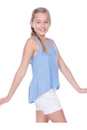 Big Girls 7-16 Jersey Scoop Neck High Low Tank