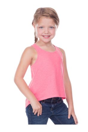Little Girls 3-6X Jersey Scoop Neck High Low Tank