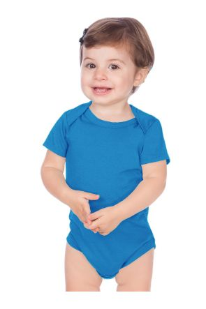 Unisex Infants Lap Shoulder Short Sleeve Onesie Jersey (Same IJC0431)