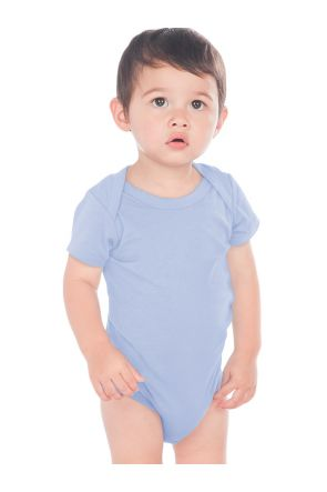 Unisex Infants Lap Shoulder Short Sleeve Onesie (Same IJP0492)