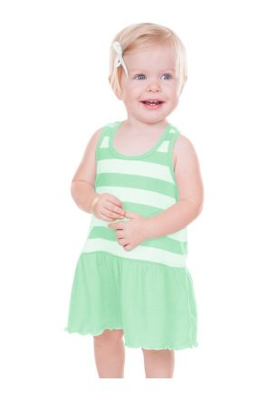 Infants Girls Striped Jersey Scoop Neck Racer Back Tank Dress