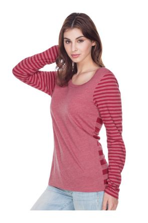 Women Striped Jersey Multi Contrast Long Sleeve