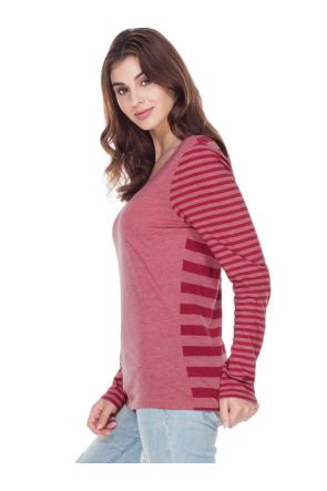 Women 2XL Striped Jersey Multi Contrast Long Sleeve
