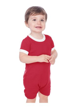 Unisex Infants Scoop Neck Short Sleeve Romper