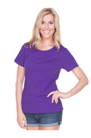 Women 2XL Crew Neck Short Sleeve Top