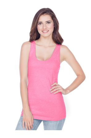Junior 2XL Sheer Jersey Scoop Neck Racer Back Tank
