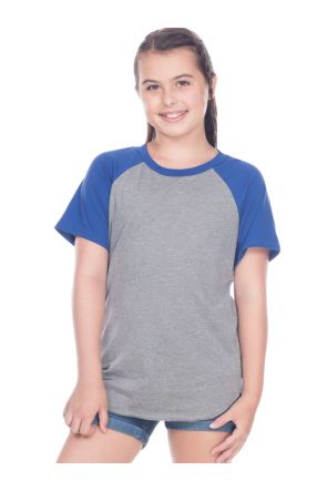 Youth Jersey Contrast Raglan Short Sleeves