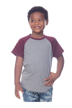 Toddlers Jersey Contrast Raglan Short Sleeves