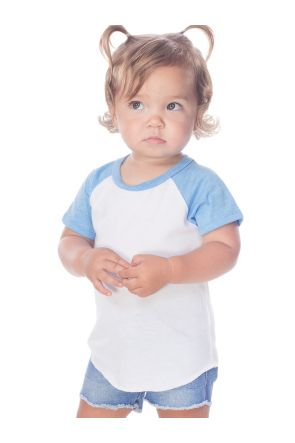 Infants Jersey Contrast Raglan Short Sleeves