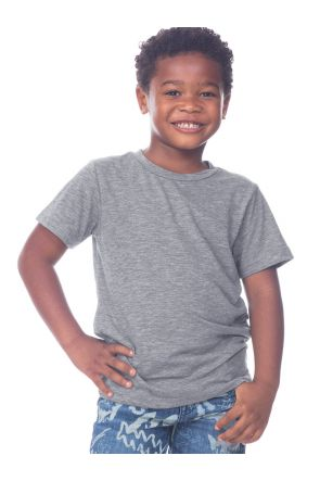Toddlers Slub Crew Neck Short Sleeve