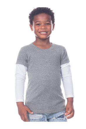 Toddlers Two-fer Long Sleeve Top